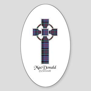 Cross-MacDonald of Clanranald Sticker (Oval)