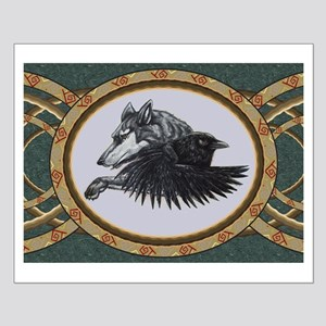 RAVEN WOLF SKETCH Posters