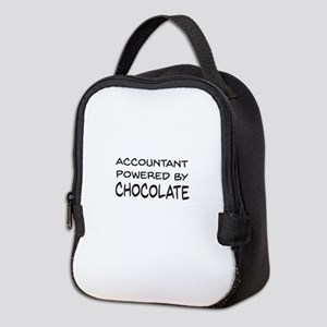 Accountant Powered By Chocolate Neoprene Lunch Bag