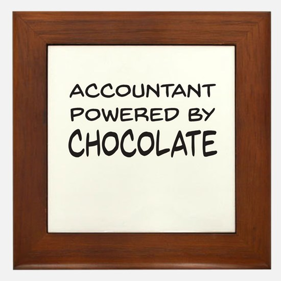 Accountant Powered By Chocolate Framed Tile