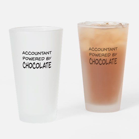 Accountant Powered By Chocolate Drinking Glass