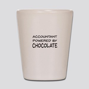 Accountant Powered By Chocolate Shot Glass