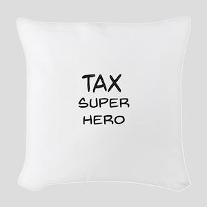 Tax Super Hero Woven Throw Pillow