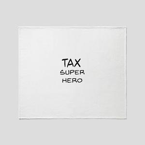 Tax Super Hero Throw Blanket