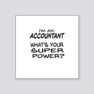 Accountant Super Power Sticker