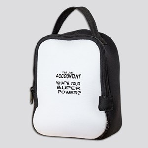 Accountant Super Power Neoprene Lunch Bag
