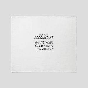Accountant Super Power Throw Blanket