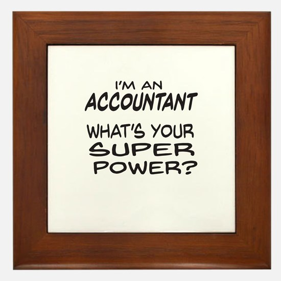 Accountant Super Power Framed Tile