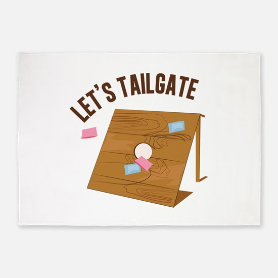 Lets Tailgate 5'x7'Area Rug