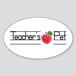 Teacher's Pet Oval Sticker