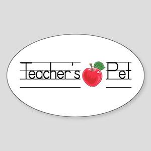 Teacher's Pet Oval Sticker