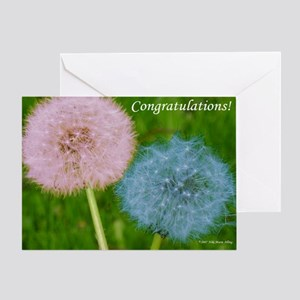 Congratulations Dandelions Greeting Card