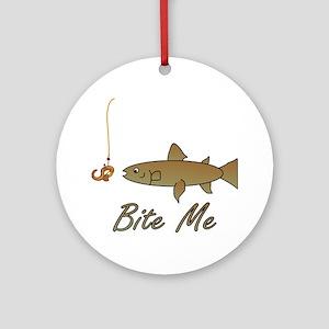 Bite Me Fish Ornament (Round)