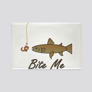 Bite Me Fish Rectangle Magnet