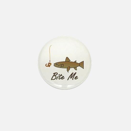 Bite Me Fish Mini Button