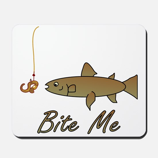Bite Me Fish Mousepad