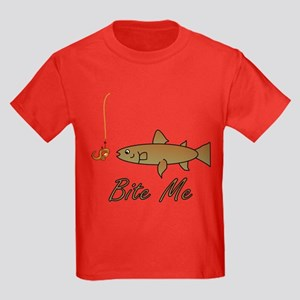 Bite Me Fish Kids Dark T-Shirt
