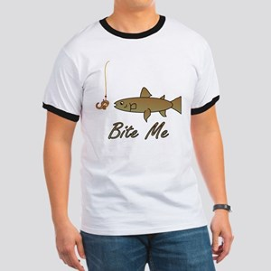 Bite Me Fish Ringer T