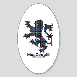 Lion-MacDonald of Clanranald Sticker (Oval)