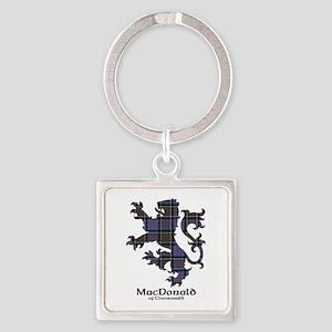 Lion-MacDonald of Clanranald Square Keychain