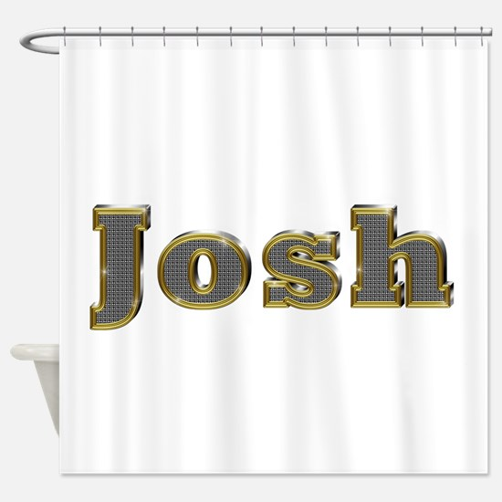 Josh Gold Diamond Bling Shower Curtain