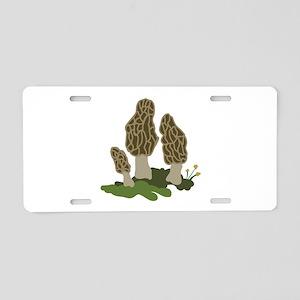 Mushrooms Aluminum License Plate