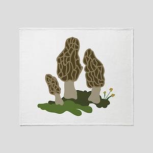 Mushrooms Throw Blanket