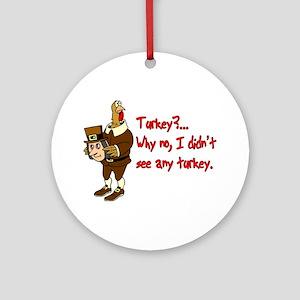 Turkey Disguise Ornament (Round)
