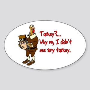 Turkey Disguise Oval Sticker