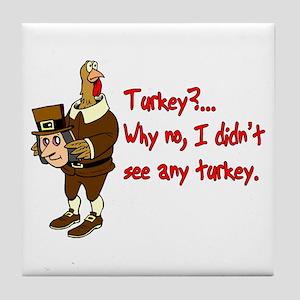 Turkey Disguise Tile Coaster