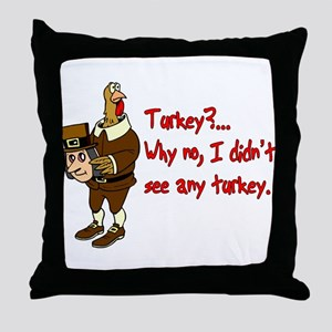 Turkey Disguise Throw Pillow