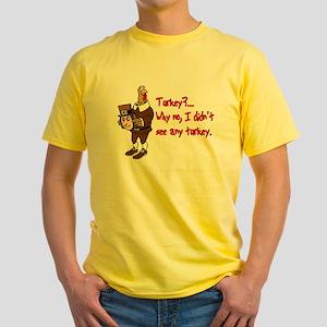 Turkey Disguise Yellow T-Shirt