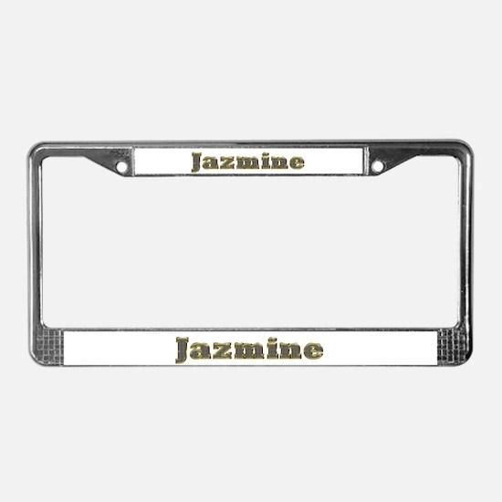 Jazmine Gold Diamond Bling License Plate Frame