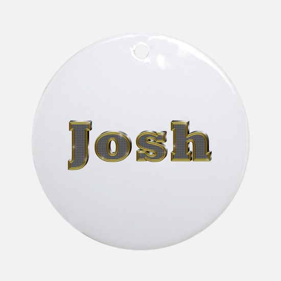 Josh Gold Diamond Bling Round Ornament