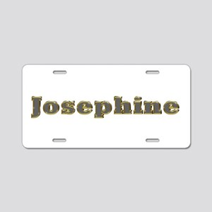 Josephine Gold Diamond Bling Aluminum License Plat