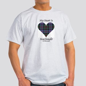 Heart-MacDonald of Clanranald Light T-Shirt