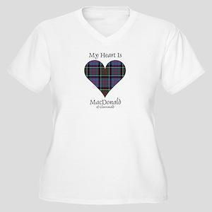Heart-MacDonald o Women's Plus Size V-Neck T-Shirt