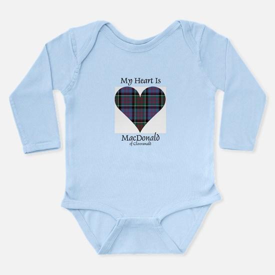 Heart-MacDonald of Cla Long Sleeve Infant Bodysuit