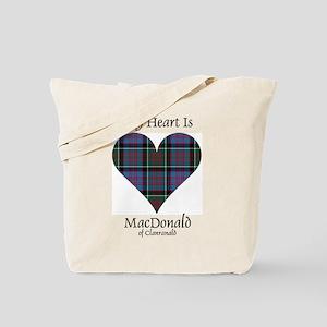 Heart-MacDonald of Clanranald Tote Bag