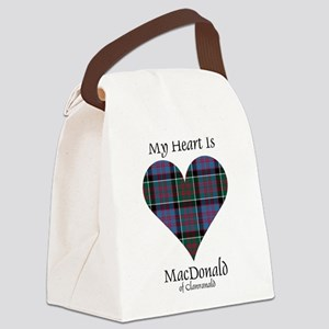 Heart-MacDonald of Clanranald Canvas Lunch Bag