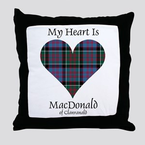 Heart-MacDonald of Clanranald Throw Pillow
