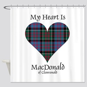 Heart-MacDonald of Clanranald Shower Curtain