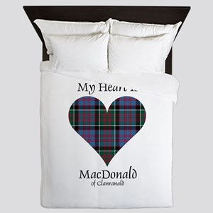 Heart-MacDonald of Clanranald Queen Duvet