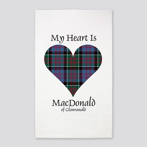 Heart-MacDonald of Clanranald Area Rug