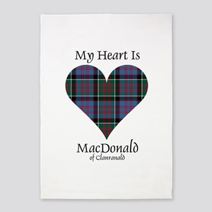 Heart-MacDonald of Clanranald 5'x7'Area Rug