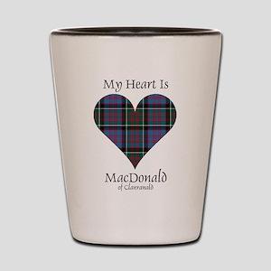Heart-MacDonald of Clanranald Shot Glass