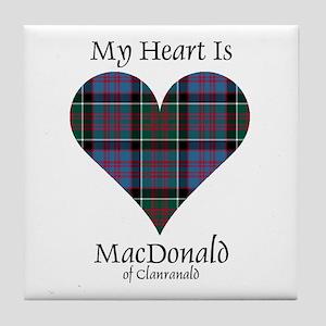 Heart-MacDonald of Clanranald Tile Coaster