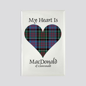 Heart-MacDonald of Clanranald Rectangle Magnet
