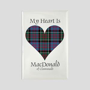 Heart-MacDonald of Clanranald Rectangle Magnet
