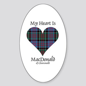 Heart-MacDonald of Clanranald Sticker (Oval)